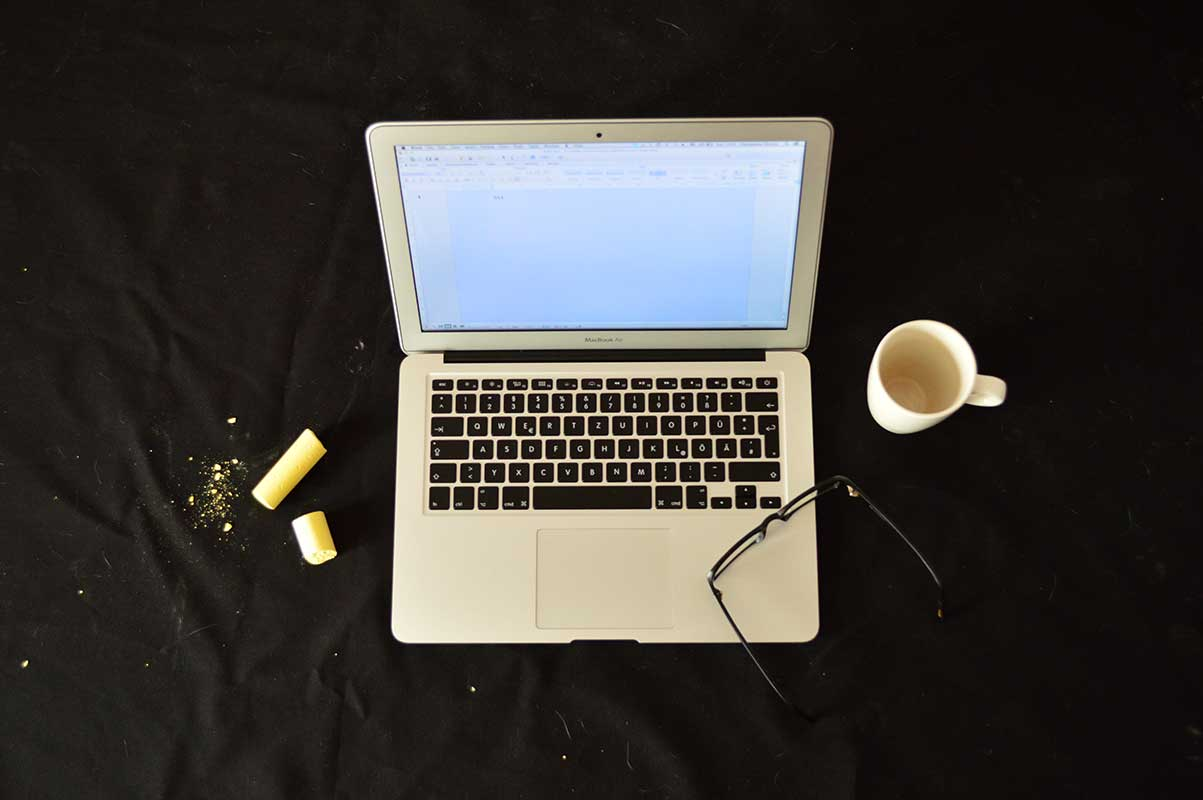 coffee and macbook